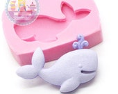 Whale Cabochon 29mm Mold Silicone Flexible Chocolate Cupcake Candy Fondant FIMO 646m* Food Safe BEST QUALITY
