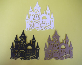Castle Die Cut Embellishment for Scrapbooking, Card Making