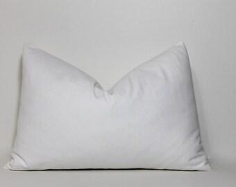Lumbar pillow cover.  Winter white, off white, cream pillow cover.  neutral home decor accent pillows, sofa pillows