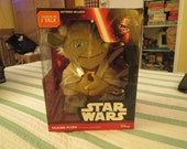 Yoda Star Wars battery operated talking plush still in box makes original movie sounds sealed in box disney