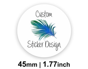 45mm Circle (1.77 inches) White Round Custom Labels/Stickers for Product Labels, Wedding Seals, Packaging