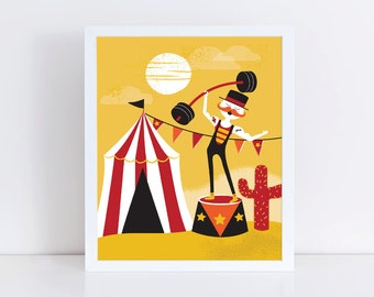 Under The Big Top Circus Print 8 x 10