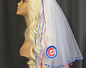 Chicago Cubs Bachelorette Veil