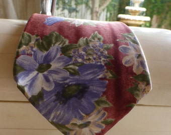 Halston Designer Italian Silk Tie. Watercolor look Vintage Tie. Amazing Silk Tie !