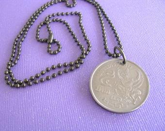 SALE, Thailand Coin Necklace, Thailand, Coin Necklace