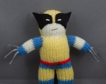 Wolverine, Hand Knitted, Toy, Plushy, Mascot
