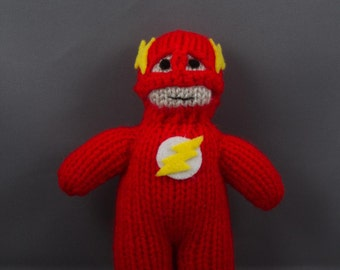The Flash, Hand Knitted, Toy, Plushy, Mascot