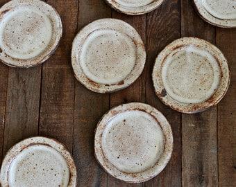 PRE ORDER - Ceramic Cake Plate - Shino Plate - Pottery Plate - Rustic Cake Plate - Ceramic Plate