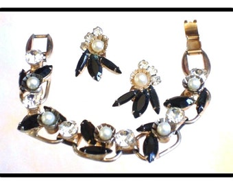 Juliana Bracelet Set- Delicious Black and White Pearl D&E  Demi-961a-082814050