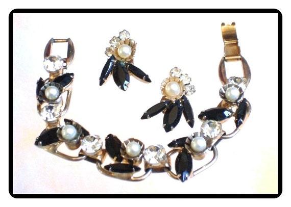 Juliana Bracelet Set- Delicious Black and White Pearl D&E  Demi-961a-082814050