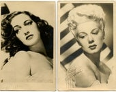 1944 Dorothy Lamour/Betty Hutton Two Hollywood Actresses/Singers Publicity Postcards