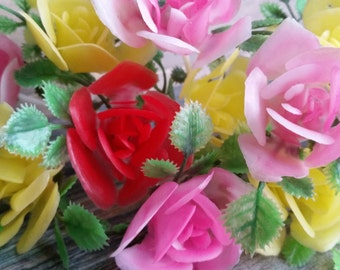 Vintage Shabby Chic Rose Cupcake Picks