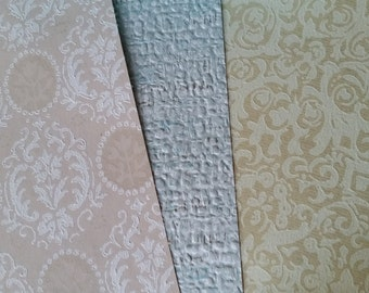 12 Pc Vintage and Antique Wallpaper Assortment   Lot No.08   Sample Paper Pack   8 x 10 Sheets