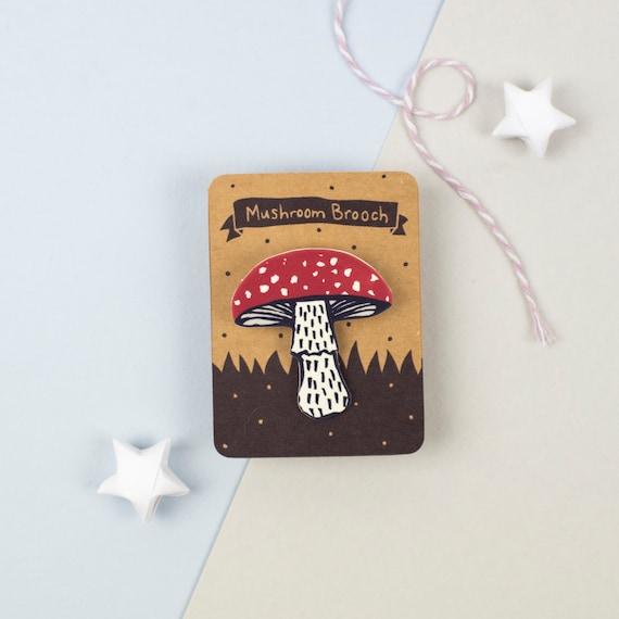 Fly Agaric Mushroom Brooch
