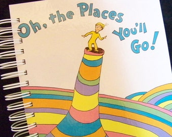 Seuss Oh the Places You'll Go blank book diary journal