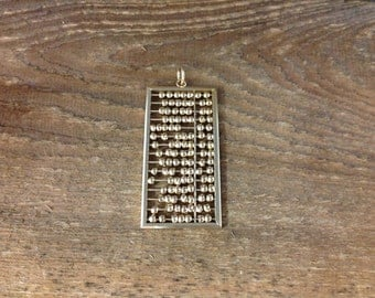 18kt Gold Abacus Pendant