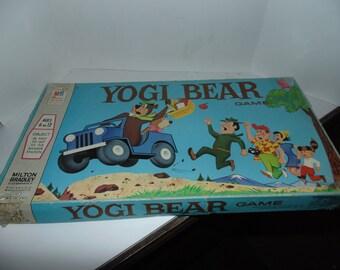 Vintage Yogi Bear Board Game Milton Bradley 1971 Vintage & Complete Hanna Barbera
