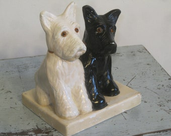 1940's Scottie Dogs , White and Black , White and Black Whiskey Display , Terriers , Dogs, Advertising Dogs