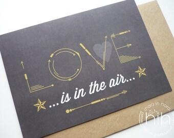 lot 2 cartes postales LOVE 'black sagittas'