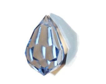 Preciosa Czech Crystal Drop - Saphire - top hole drilled - 12x20mm - 1 piece (038-P8)