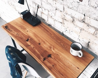 Industrial Reclaimed Slim Writing Table | Desk | Work Station
