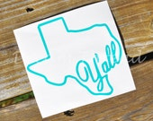 State Y'all Decals, car decals, yeti decals, monogram, ya'll, computer decal, southern decal, southern girl (made to order)