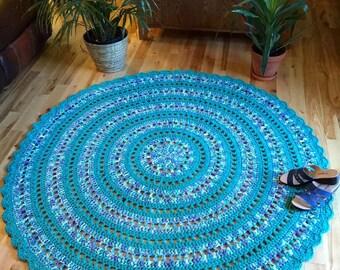 Giant crochet doily rug, giant cotton rug, mandala rug, crochet cotton rug, MADE TO ORDER