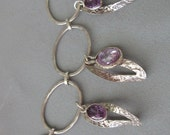 Sterling silver Designed necklace - Handmade Necklace with Amethyst