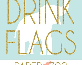 Printable Paper Zoo Drink Flags
