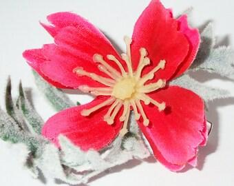 Fuchsia Blossom Hair Clip