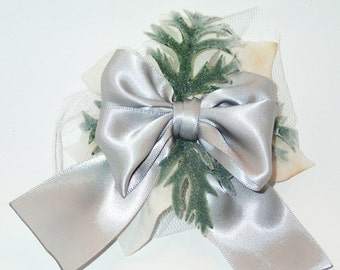Silver Moss Blossom Bow