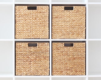 Basket made from water hyacinth for IKEA Expedit shelf (4 set)