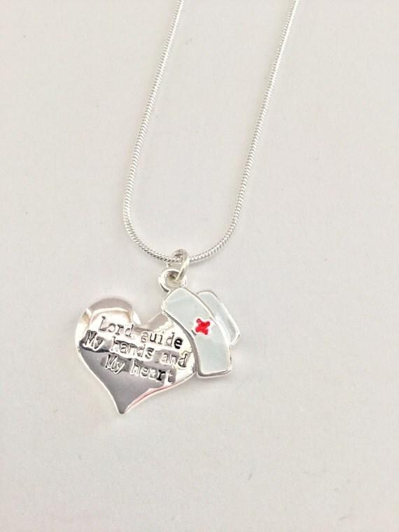nurses prayer charm necklace