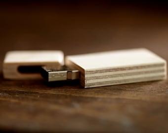 FAST USB 3.0 - 8gb-16gb-32gb wood USB 3.0 flash drive - Natural Birch