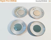 ON SALE Candle holders Fine China mirrored Saucers Shabby Chic WEDDING Patio lights