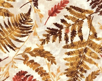Fat Quarter Harvest Fall Autumn Mixed Leaves 100% Cotton Quilting Fabric