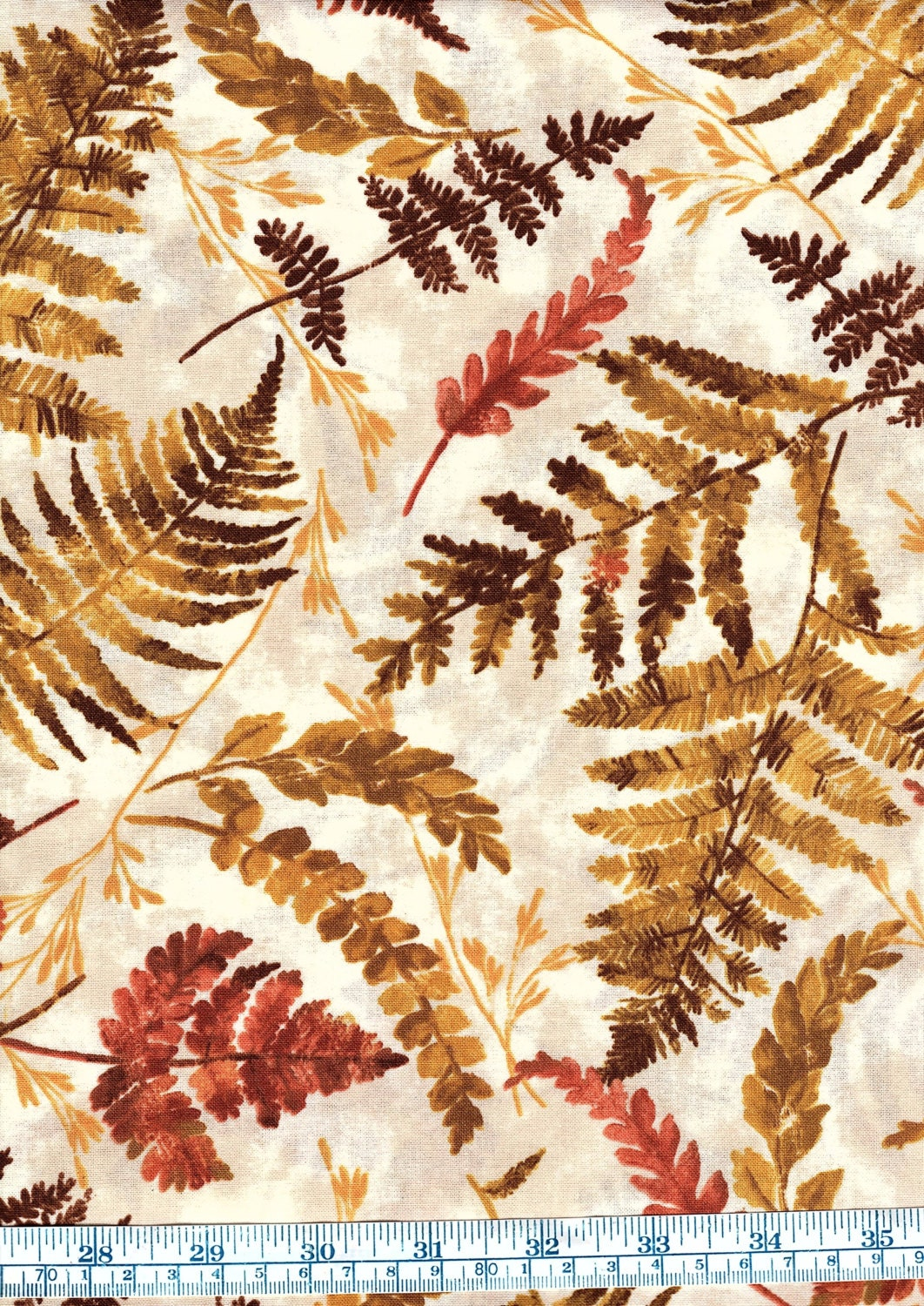 Fat Quarter Harvest Fall Autumn Mixed Leaves 100% Cotton ...