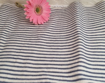Vintage fabric ticking  black and white ticking
