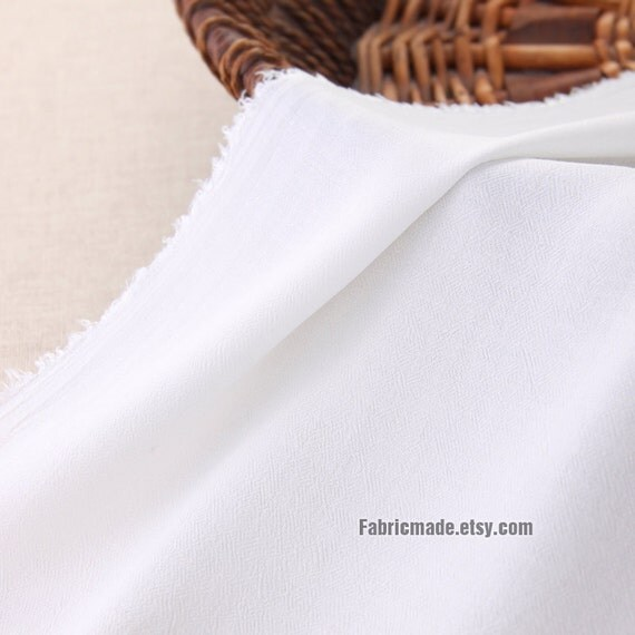 off White Fabric Off White Silk Cotton Blended by fabricmade
