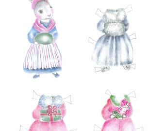 Paper Doll Bunny Kit