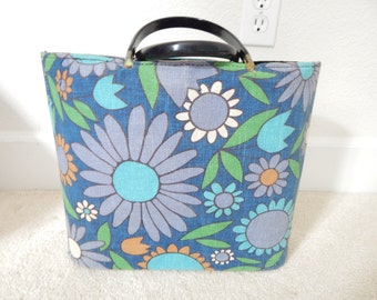 Fabulous Tote Retro Flower Power Bag with Handles