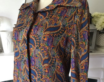 Vintage Paisley Cocon Haute Couture Label Day Dress