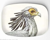Secretary Bird melamine platter