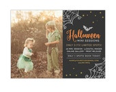 Halloween Mini Session Template, Fall Photography Marketing Board, Mini Session Pricing Advertisement Template, Photoshop Templates - AD226