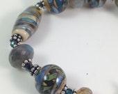 Lampwork and Labradorite Bracelet