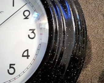 Enamelware Kitchen Wall Clock