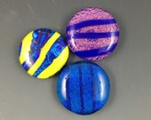 Large Dichroic Glass Cabochons