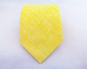 Men's Necktie - Butter Crosshatch