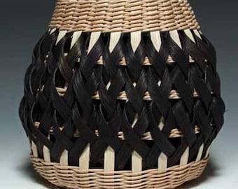 Walnut/black Penland Pottery Basket