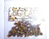 SALE!! Big Cats Seconds ...Handmade Glass Murrini Chips for Lampwork Beads & Fusing green grass slice millefiori Beatlebaby
